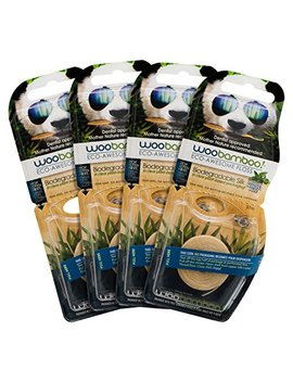 Woobamboo Eco  Awesome Floss, Biodegradeable Silk Floss, 4 Pack by Woobamboo