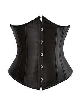 Zhitunemi Women's Lace Up Boned Jacquard Brocade Waist Training Underbust Corset Corset by Zhitunemi