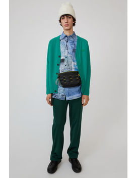 Cardigan Sweater Bright Green by Acne Studios