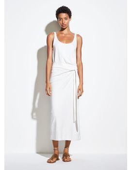 Sleeveless Pima Cotton Wrap Dress by Vince