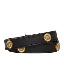 Black Icon Stud Wrap Bracelet by Versace