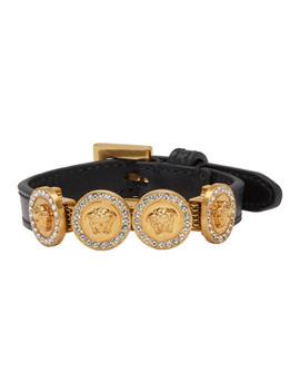 Gold & Black Tribute Bracelet by Versace