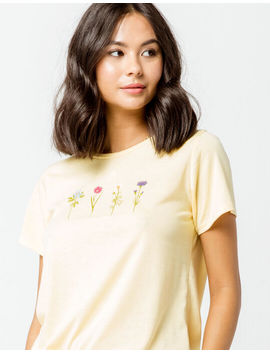 Full Tilt Flower Womens Boyfriend Tee by Full Tilt