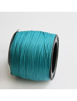 100 Yards Turquoise Polyester Thread, Blue Waxed Cord, Macrame Cord, Waxed Polyester Thread, Blue Waxed Polyester Cord (0.8mm) S 40 113 by Etsy