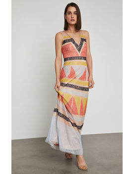 Colorblocked Lace Maxi Dress by Bcbgmaxazria