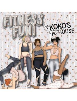 Fitness Fun Clipart, Fashion Girls, Yoga Poses, Gym Bag, Fashion, Excersize And More Glitter Graphic Digital Clip Art, Planner Stickers by Etsy