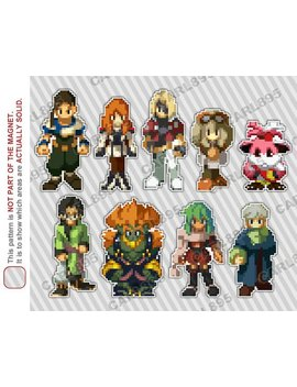 32bit Xenogears   Car/Refrigerator Magnets by Etsy