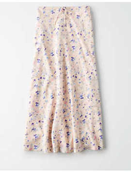 Ae Studio Floral Midi Skirt by American Eagle Outfitters