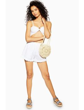 White Ring Bandeau And Shorts Co Ord by Topshop