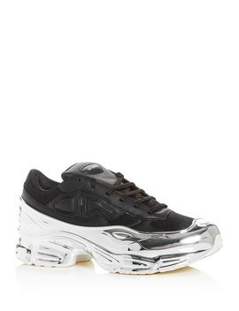 Men's Rs Ozweego Leather Low Top Sneakers by Raf Simons For Adidas