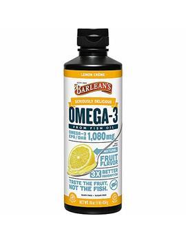 Barlean?S Seriously Delicious Omega 3 Fish Oil, Lemon Cr�Me, 16 Oz by Barlean's