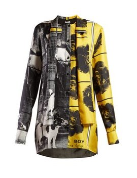 X Gilbert & George Print Silk Blouse by Jw Anderson