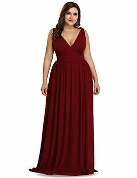 Ever Pretty Womens A Line Floor Length Sleeveless Plus Size Bridesmaid Dresses 08697 by Ever Pretty