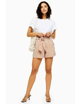 Tall Nude Utility Shorts by Topshop