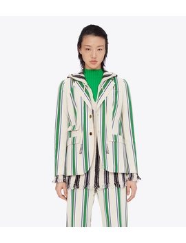 Striped Cotton Blazer by Tory Burch