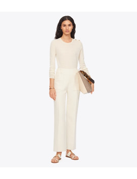 Double Weave Cotton Pant by Tory Burch