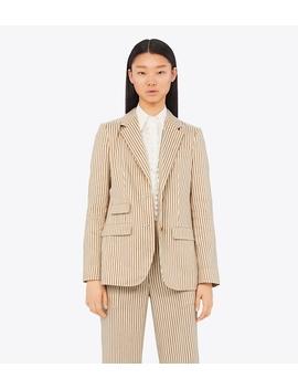 Striped Linen Blazer by Tory Burch