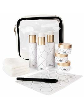 Tsa Travel Bottle Set (10pcs) – Luxury Leakproof Travel Size Toiletries & Labels With Clear Tsa Approved Toiletry Bag. 3 & 1oz Bpa Free, Refillable Travel Containers For Shampoo, Conditioner & Lotions by In The Prime Of Design