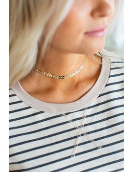 Arrow Choker Necklace   Gold by Mindy Mae's Market