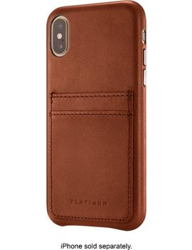 Leather Wallet Case For Apple® I Phone® X And Xs   Papaya by Platinum