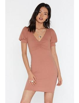 Gather The Gang Gathered Mini Dress by Nasty Gal
