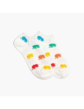 Elephant Ankle Socks by J.Crew