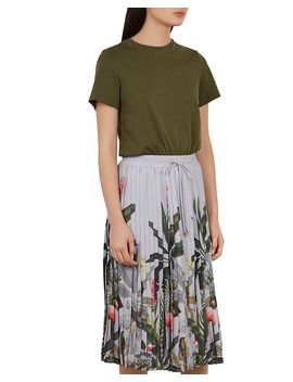 bobbyn-pistachio-pleated-midi-dress by ted-baker