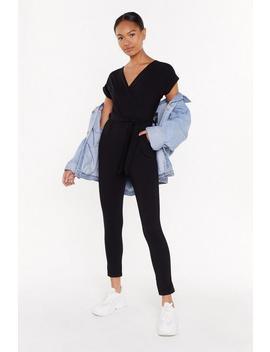 Wrap Belted Jumpsuit by Nasty Gal