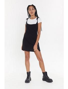 2 In 1 Tie Strap T Shirt Dress by Nasty Gal