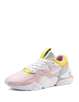 X Nova X Barbie Women's Mixed Media Pastel Lace Up Sneakers by Puma