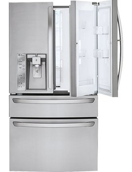 Door In Door 29.9 Cu. Ft. 4 Door French Door Refrigerator With Thru The Door Ice And Water   Stainless Steel by Lg
