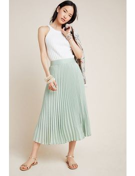 Hadley Pleated Midi Skirt by Toving