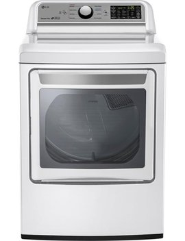 7.3 Cu. Ft. 9 Cycle Easy Load Smart Wi Fi Enabled Gas Dryer With Sensor Dry Technology   White by Lg