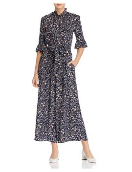 Vivianna Floral Printed Silk Jumpsuit by Rebecca Taylor