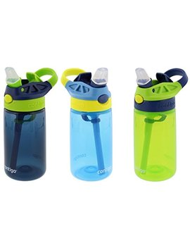 contigo-kids-autospout-gizmo-water-bottles,-14oz-(nautical,-school-boy,-granny-smith) by contigo