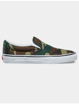 Vans Woodland Camo Classic Slip On Shoes by Vans