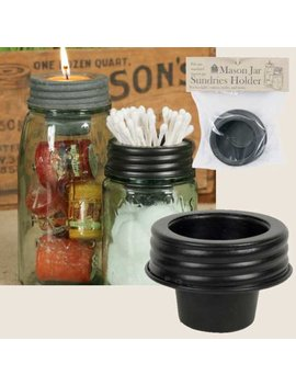 Farmhouse/Cottage/Primitive/Country Mason Jar Sundries Cup Lid Holder by Wingky Shop