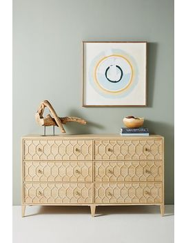 Textured Trellis Six Drawer Dresser by Anthropologie