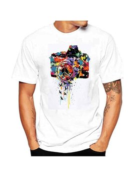 Hot Sale! Paymenow Fashion Men Women Graphic Short Sleeve Summer Casual Tees T Shirt by Paymenow