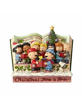 "Enesco 6000983 Jim Shore Peanuts Christmas Storybook Figurine 7.5"" Multicolor by Enesco"