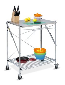 Honey Can Do Tbl 01566 Stainless Steel Folding Urban Work Table Grey by Honey Can Do