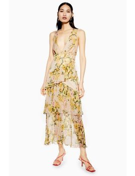 Pleat Tiered Midaxi Dress by Topshop