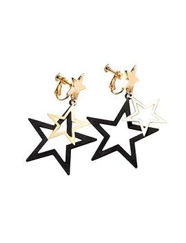 Fashion Women Star Dangle Drop Studs Earrings For Girls Womens For Senstitive Ears by Duo Tang