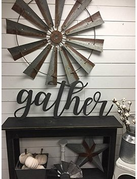 Gather Sign Wood Gather Sign Wood Wall Decor by Amazon