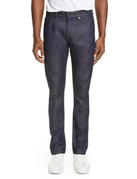 Straight Leg Raw Denim Jeans by Burberry