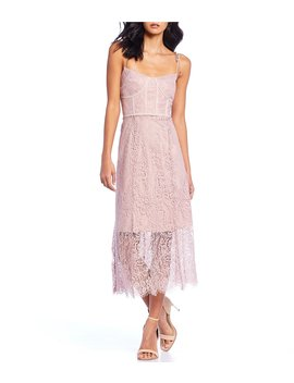 Sense Tie Strap Lace Midi Dress by Keepsake