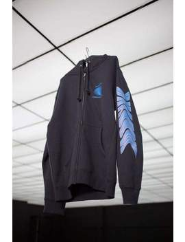 Blue Lava Zip Up Hoodie by Shadow Hill