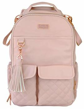Itzy Ritzy Diaper Bag Backpack – Large Capacity Boss Backpack Diaper Bag Featuring Bottle Pockets, Changing Pad, Stroller Clips And Comfortable Backpack Straps, Blush by Itzy Ritzy