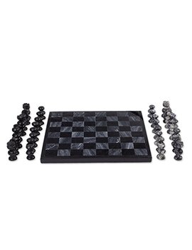 Novica Decorative Hand Carved Sophisticate' Marble Chess Set by Novica