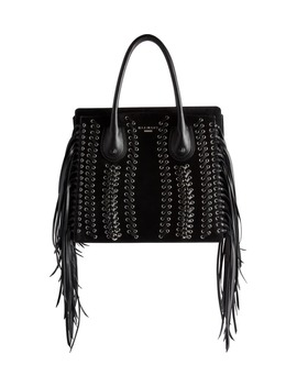 Fringe Leather Top Handle Bag by Balmain